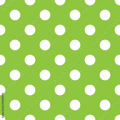 polka-dot-zielony-i-bialy-wzor-wektor