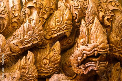 Valokuva Buddha Naga thai art and culture religion in Thailand background is texture