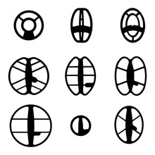 Search Coil Of The Metal Detector DD And The Ring Coil To Find Gold And Coins With A Metal Detector, Vector