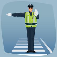 Traffic Cop, Officer Of Traffi...