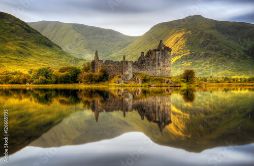 Foto op Canvas Kasteel Kilchurn sunset