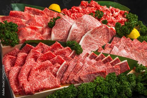Staande foto Vlees 和牛盛り合わせ