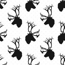 Deer Pattern. Vector Illustration