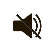 Mute, No Sound Icon Vector