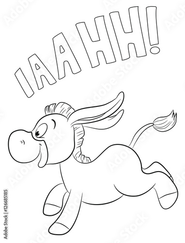 Tuinposter Rennender Esel