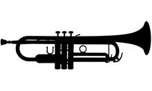 Silhouette D'une Trompette.
