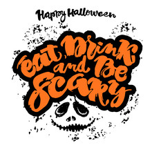 Halloween Lettering Poster, In...