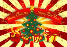 Cartolina Buon Natale Felice A...