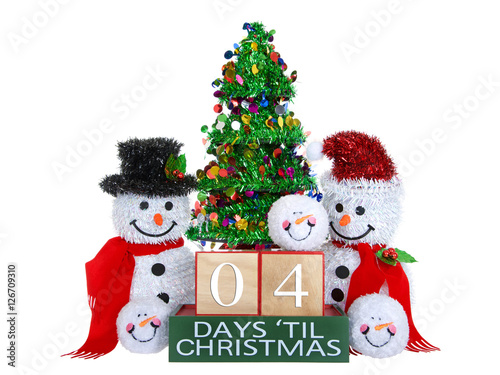 Until Christmas 70 Days Till Christmas.04 Days Until Christmas Light Beech Wood Blocks With Red