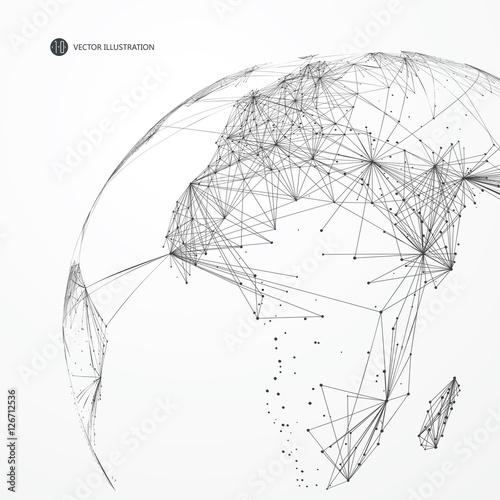 mapa-swiata-z-punktow-i-linii