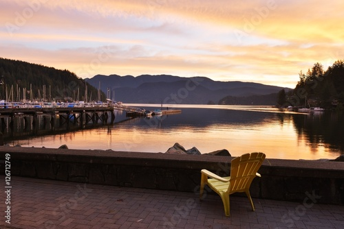 Canvas Print Deep Cove sunrise, North Vancouver