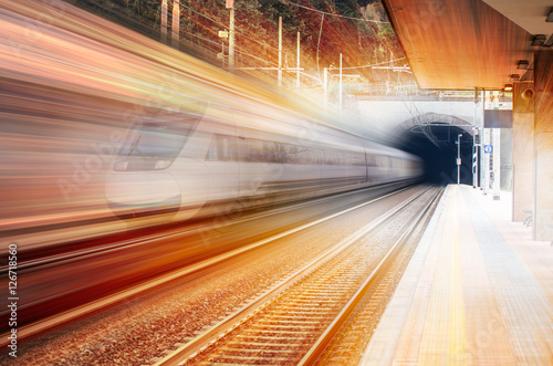 high speed train Fototapeta