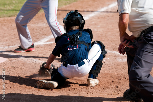 Photo  Little league baseball catcher