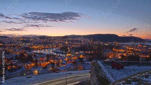 Canvas Prints Athens Blick auf Trondheim in Norwegen von der Festung Kristiansten aus.