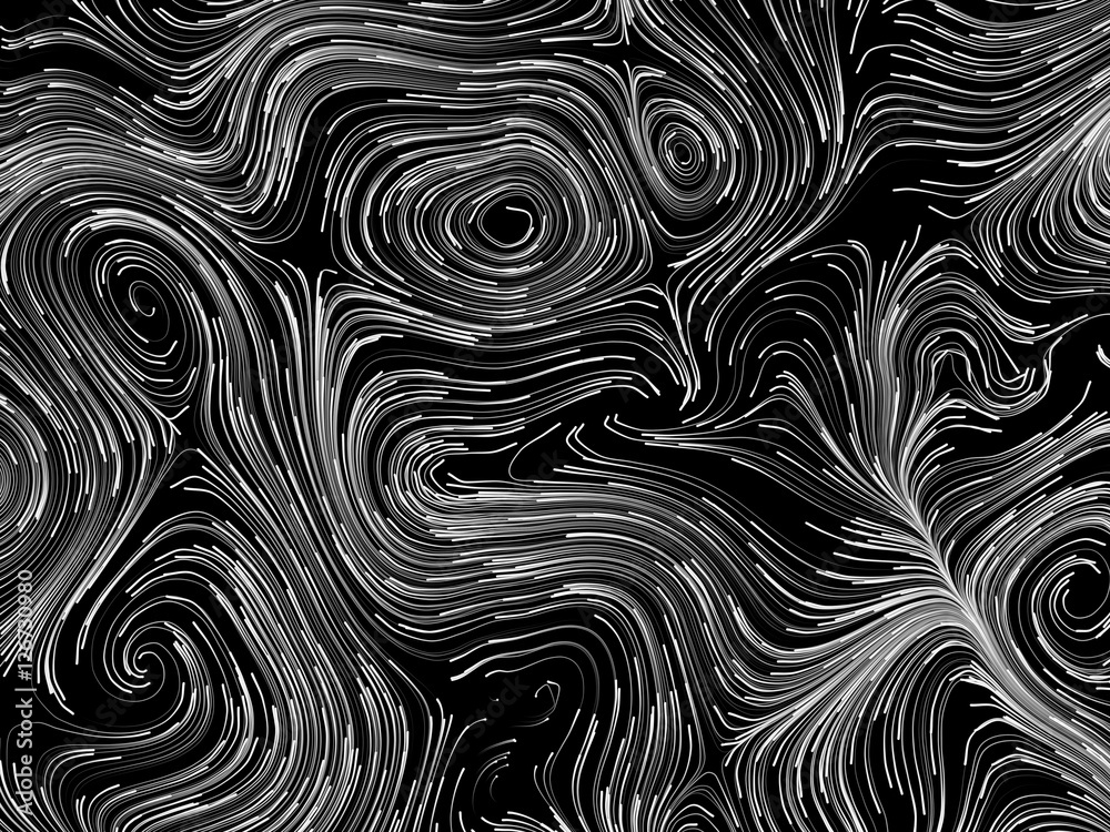 Black and white swirls