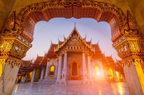 Foto op Canvas Bangkok Wat Benchamabophit , Thailand (the Marble Temple)