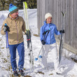 Skiwanderer kehren von der Tour zurück