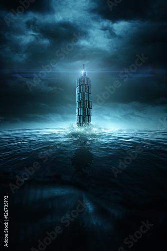 Photo Sci-Fi Leuchtturm