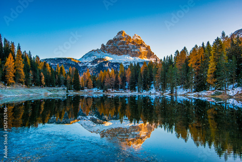 Antorno Lake, Dolomiti Canvas Print