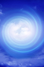 Mystical Background With Blue Whirl And Sky