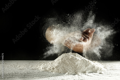 Fotomural flour and hands