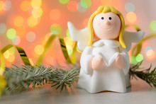 Toy Angel With Book In Hand