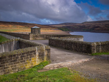 Walshaw Dean Reservoir On The Pennine Way Near To Heptonstall In Calderdale
