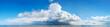 Leinwandbild Motiv Sea panorama. Huge storm cloud over the sea