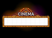Theater Sign,cinema Sign,light Sign,frame Light
