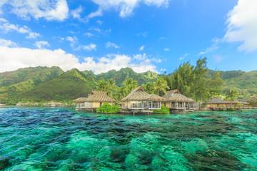The Beautiful sea and resort in Moorae Island at Tahiti PAPEETE,