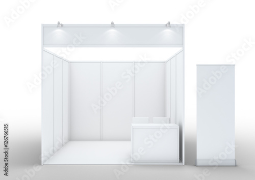 Fotografie, Obraz  Blank exhibition stand.