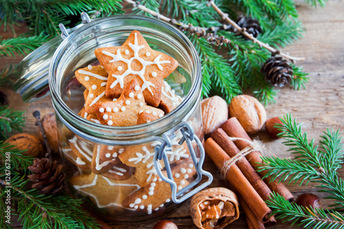 Stickers pour porte Pierre, Sable Ginger Christmas cookies