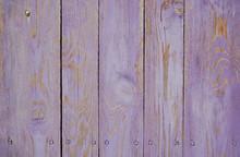 Violet Old Wooden Fence. Wood Palisade Background. Planks Texture