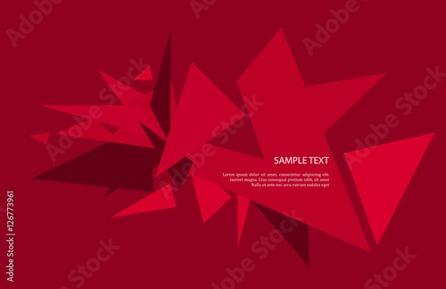 Vector abstract geometric background with triangles  #126773961