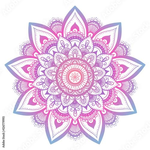 Photo  Outline flower mandala