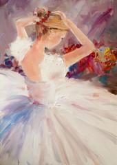 Plakat Art Oil-Painting Picture Ballerina