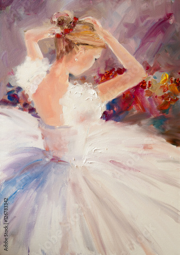 Art Oil-Painting Picture Ballerina - 126783342