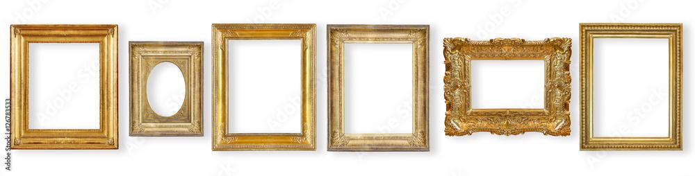 Fototapeta set antique, gilded frame