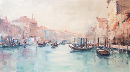 FototapetaArt Oil-Painting Picture Venice Italy