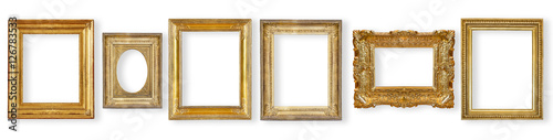 Staande foto Retro set antique, gilded frame