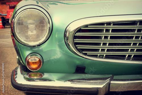 Fotografia, Obraz  Headlight lamp old antique car - vehicles vintage classic style