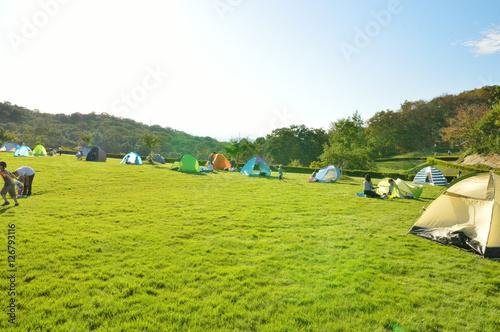 Canvas Prints Camping 芝生