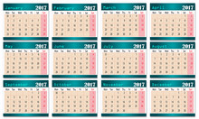 Calendar Design- 2017