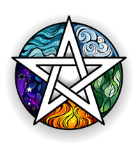 Beautiful Bright Pentagram