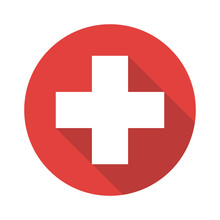 First Aid Cross Icon Vector