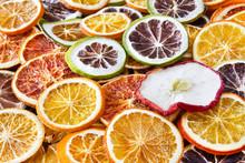 Getrocknete  Orangen Und Äpfel