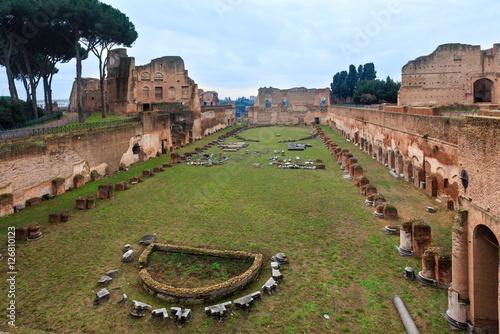 Valokuva  Palatine Hill in Rome, Italy.