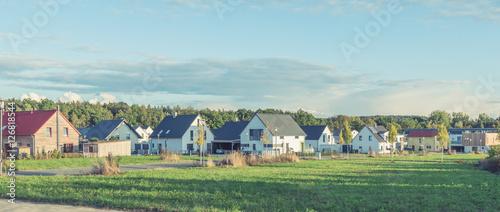 Fotografiet  Idyllische Neubau-Siedlung