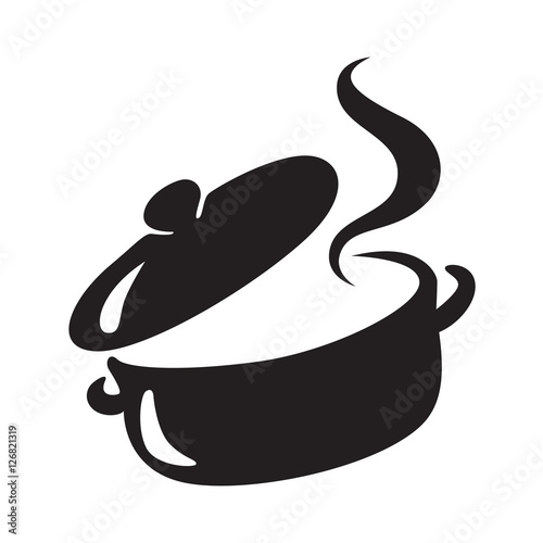 Fotografie, Obraz  icon black pot, vector