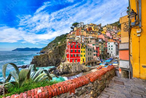 Fotobehang Liguria Riomaggiore, Cinque Terre National Park, Liguria, Italy